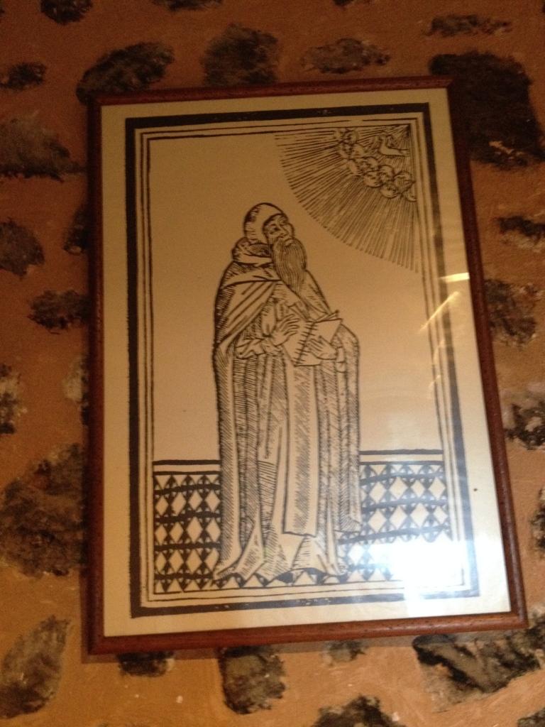 Ramon Llull, vermutlich ein (oder nach einem) zeitgenössischen Holzschnitt