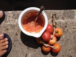 Sauce aus mallorquinischen Ramallet Tomaten