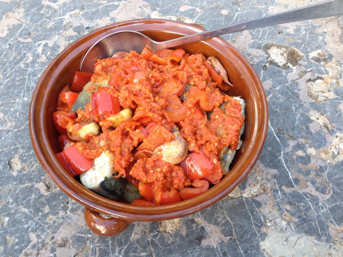 Makrele oder Hering mit Paprika