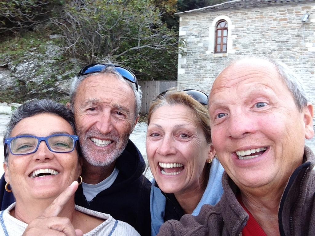 Margarita, Enrique, Maria und Klaus auf Thassos im Oktober 2014