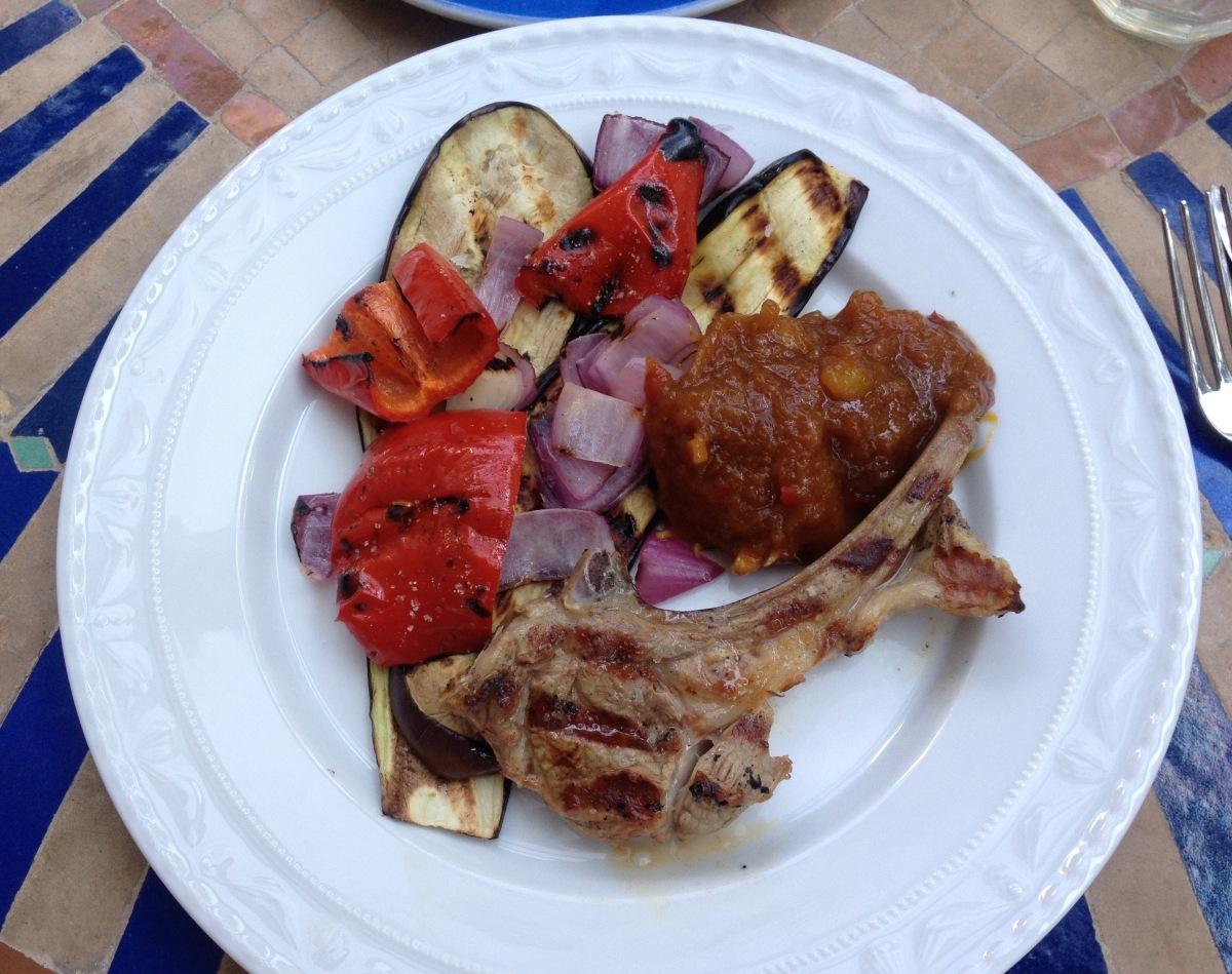 Mango-Chutney zu Grillgemüse und Lamm