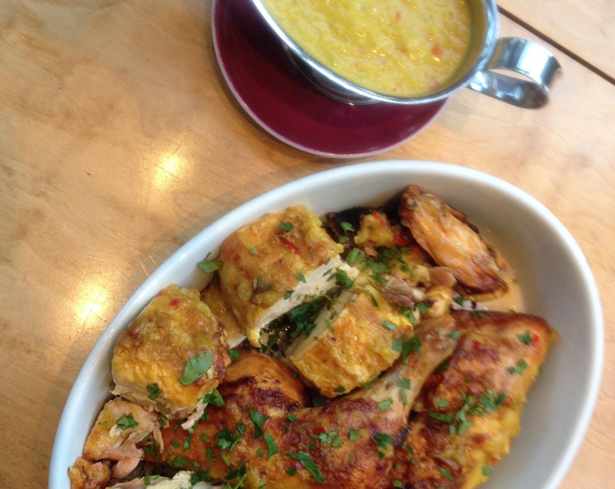 Hähnchen mit Mango-Curry-Sauce