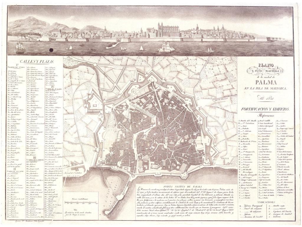 Palma Plano Muntaner 1831