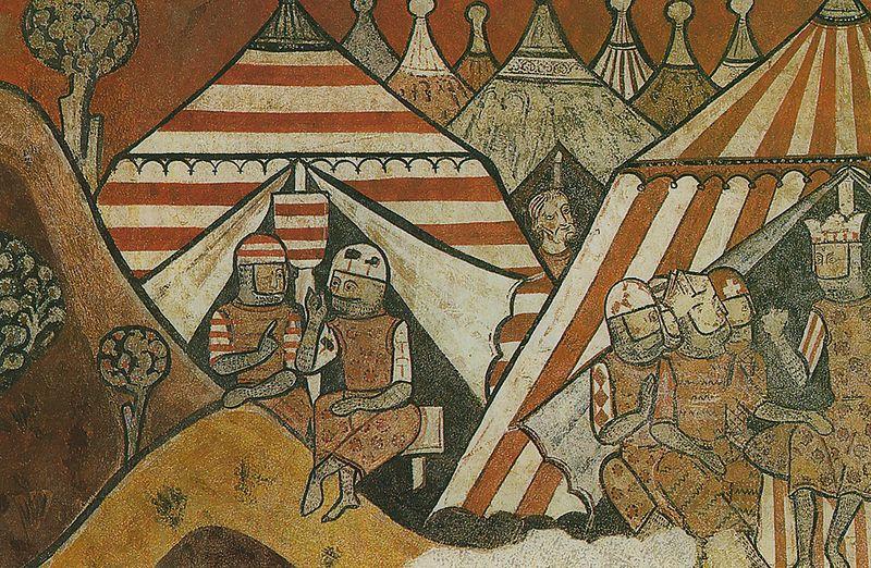 Wandbild - Heerlager vor der Stadt Palma 2