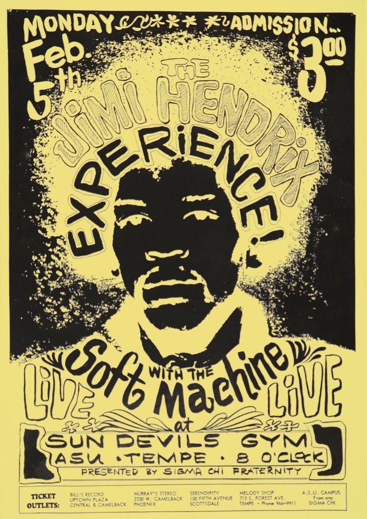 Soft Machine mit JHE erster Gig 5 Feb 68 Poster