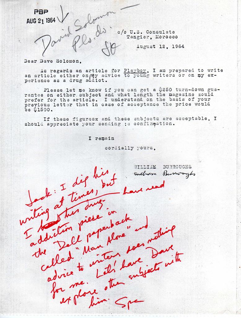 Solomon Brief von Burroughs