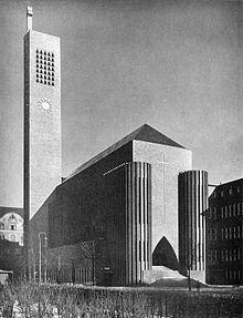 1934 ca - Josef Klarwein Kirche am Hohenzollernplatz