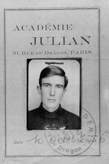 1956 - Academie Julian Ausweis