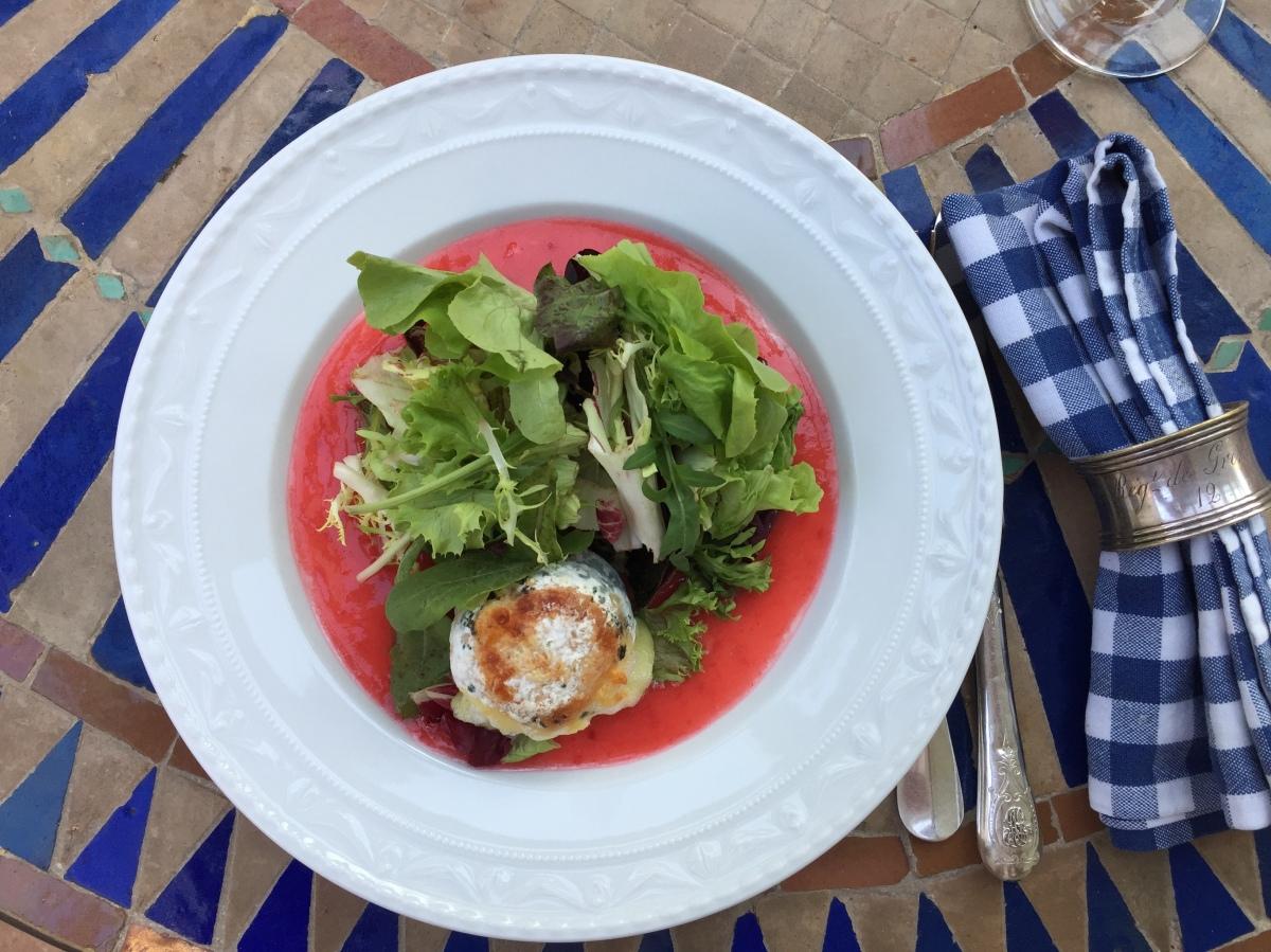Chèvre Chaud - Ziegenkäse mit Salat