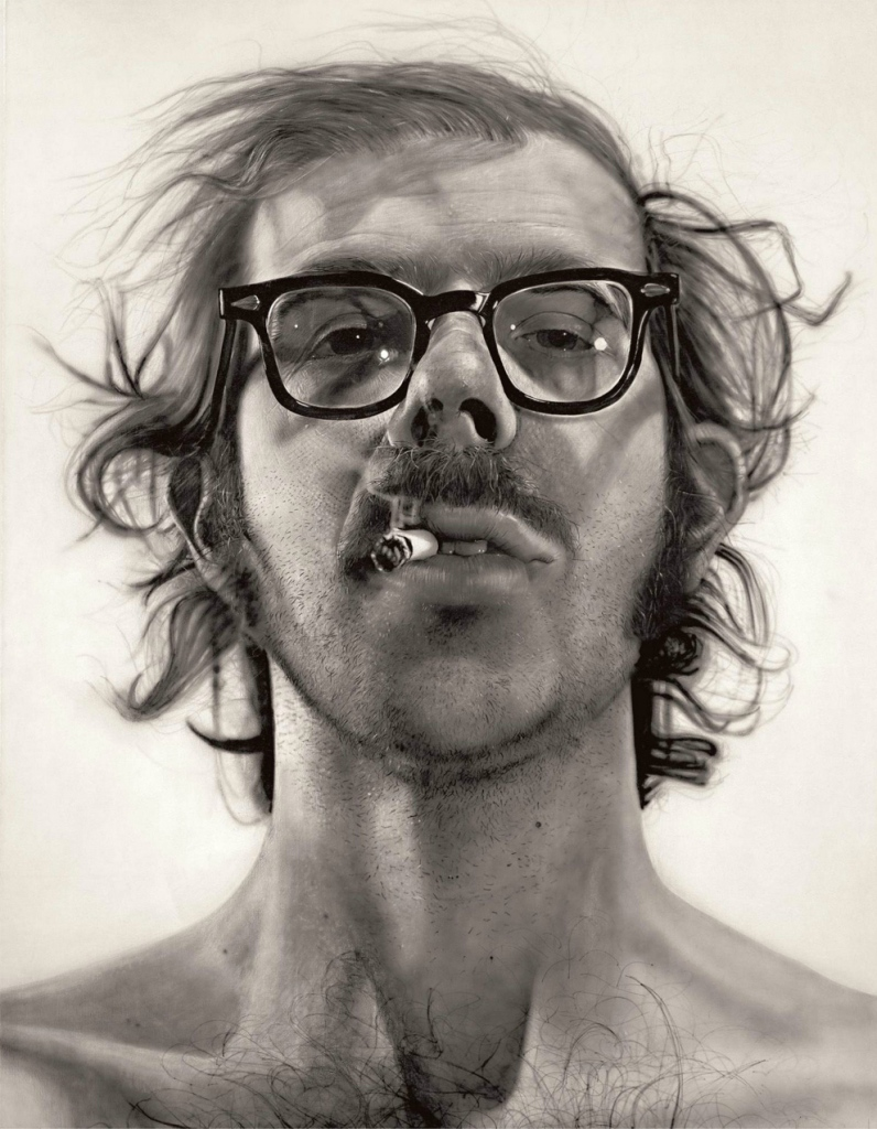 Chuck Close self-portrait 1967-68
