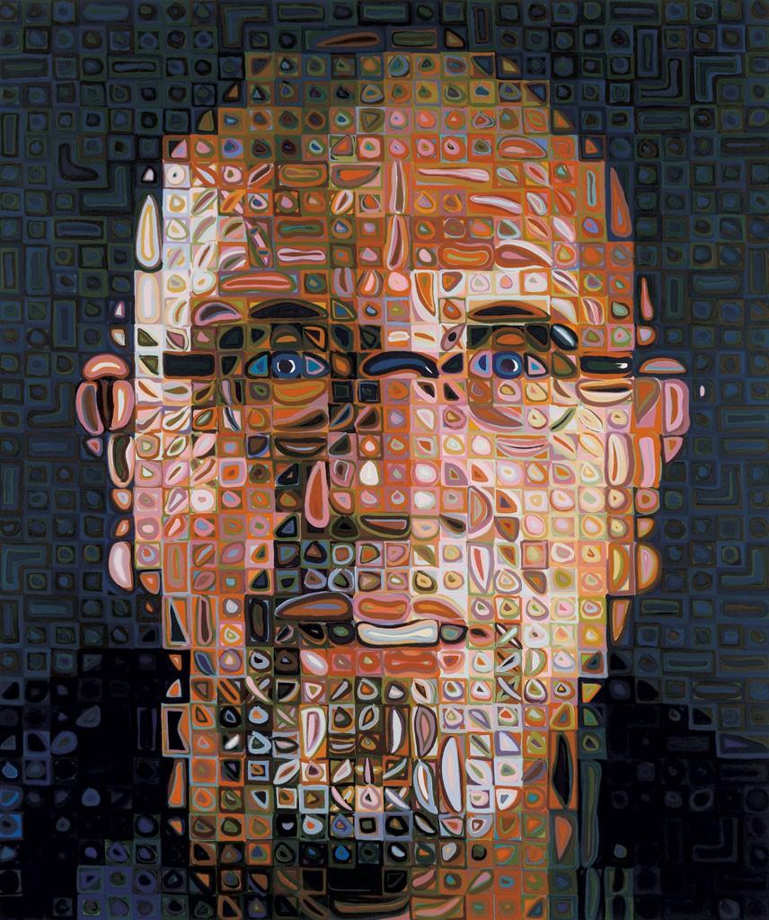Chuck Close Self Portrait Silkscreen 2012