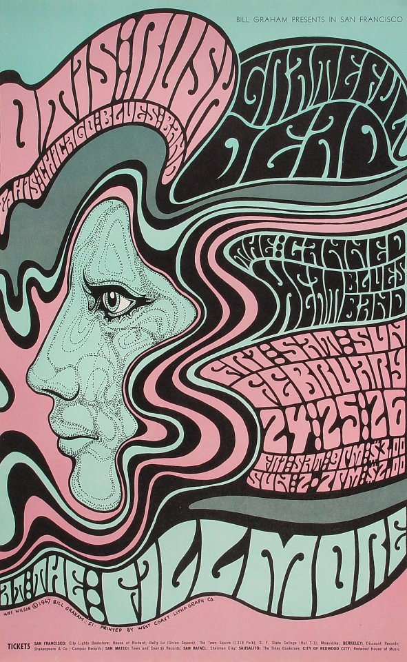 Wes Wilson Fillmore Poster 1967