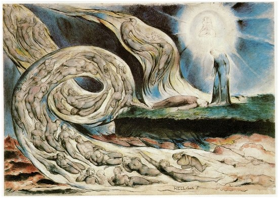 William Blake Illustration zu Dantes Göttliche Komödie 1826