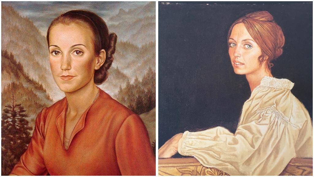 Vergleich Schadt-Mati Frauenportrait