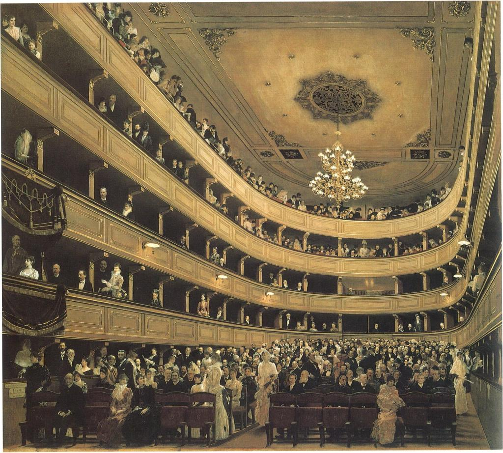 Gustav_Klimt_ Zuschauerraum im Alten Burgtheater in Wien 1888