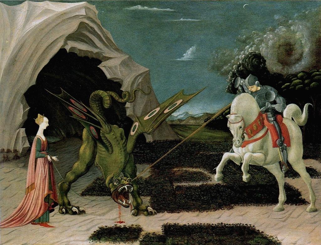 250 Paolo Uccello Der hl Georg tötet den Drachen ca 1470