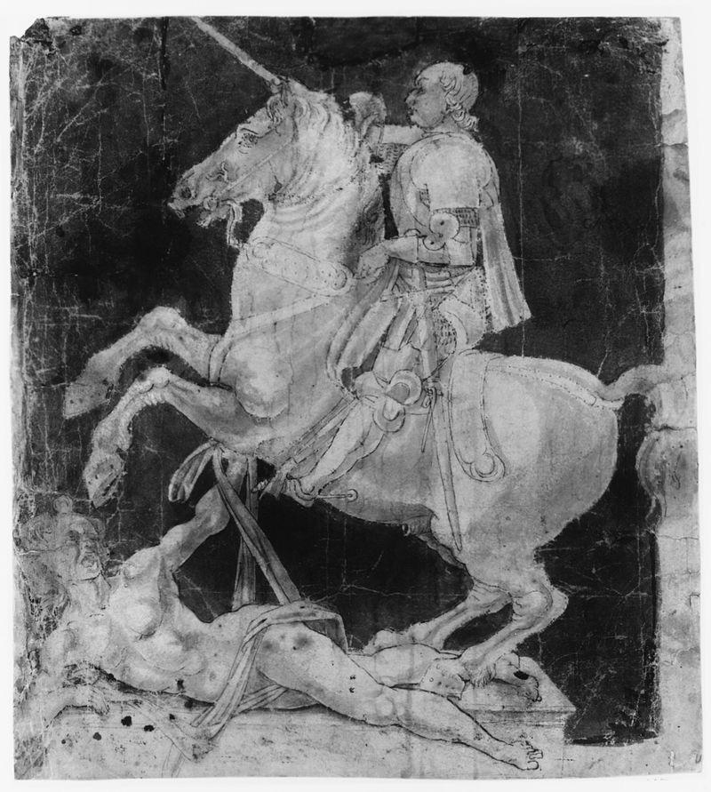270 Leonardo Study for the Equestrian Monument to Francesco Sforza ca 1480