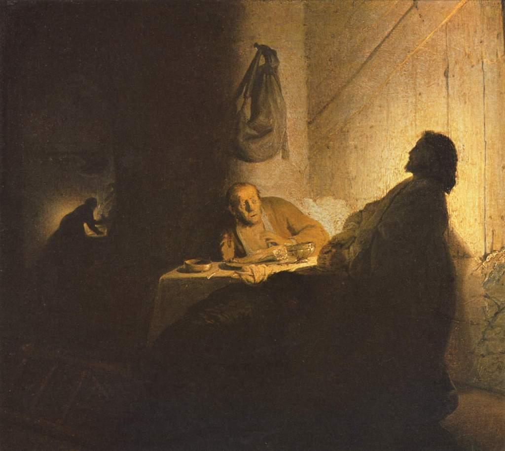 Rembrandt Emmaus 2