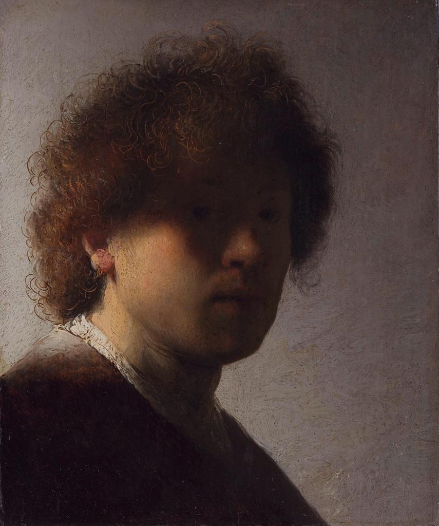 Zelfportret op jeugdige leeftijd